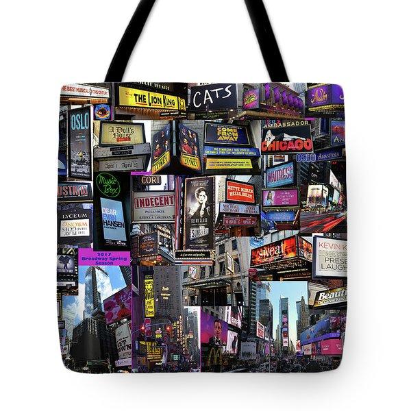2017 Broadway Spring Collage Tote Bag