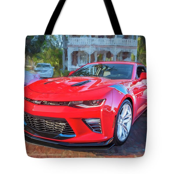 Tote Bag featuring the photograph 2017 Chevrolet Camaro Ss2  by Rich Franco