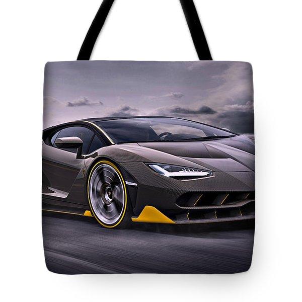 2017 Lamborghini Centenario Tote Bag