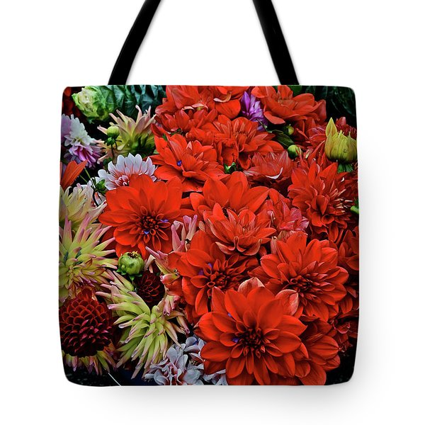 2017 Mid October Monona Farmers' Market Buckets Of Blossoms 1 Tote Bag