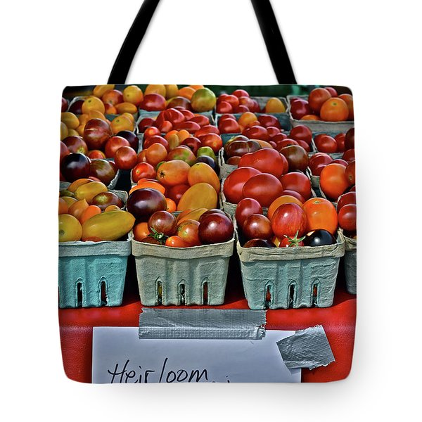 2017 Monona Farmers' Market August Heirloom Cherry Tomatoes Tote Bag