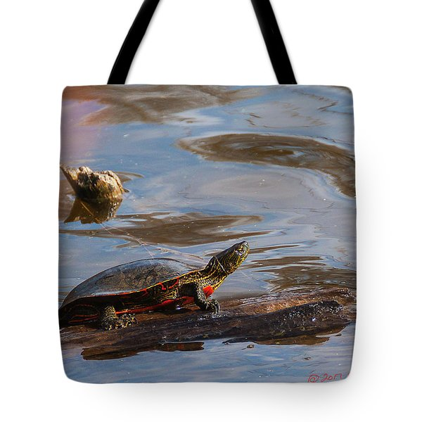 2017 Painted Turtle Tote Bag by Edward Peterson