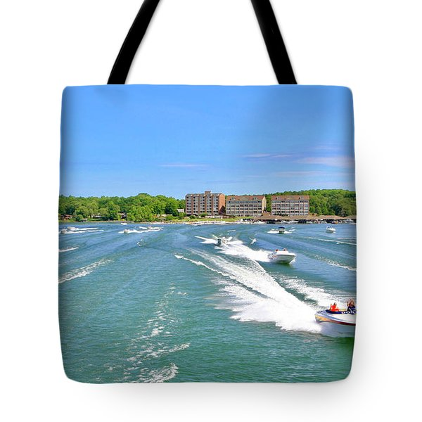2017 Poker Run, Smith Mountain Lake, Virginia Tote Bag