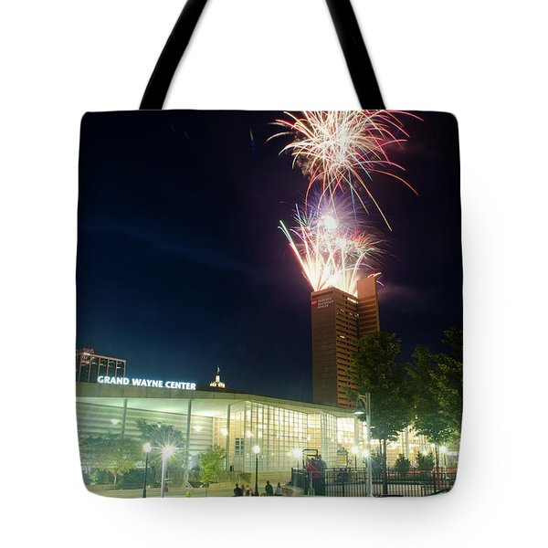 2017 Three Rivers Festival Aep Fireworks Tote Bag