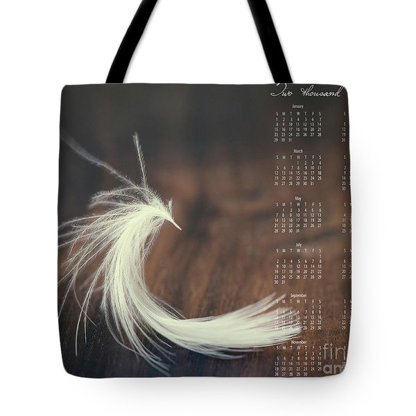 Tote Bag featuring the photograph 2017 Wall Calendar Feather by Ivy Ho