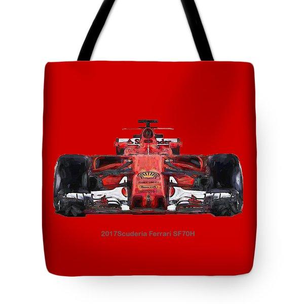 2017scuderia Ferrari Sf70h Tote Bag