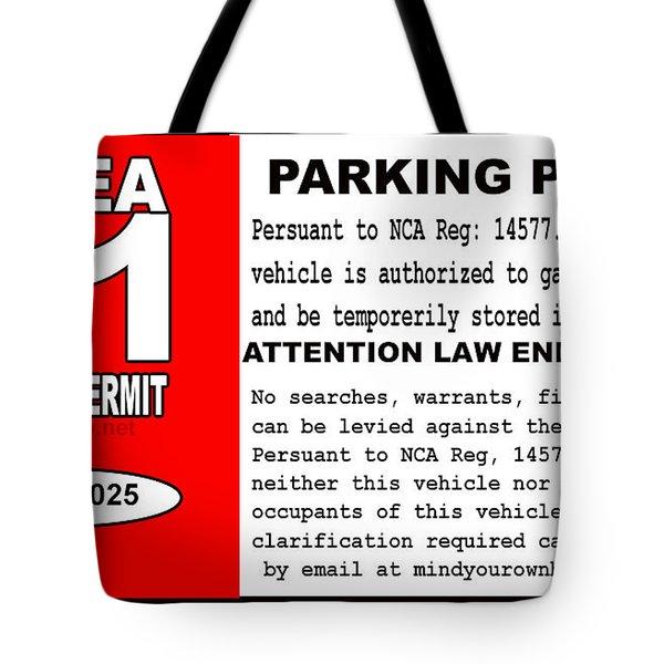 2018 Area 51 Parking Permit Tote Bag