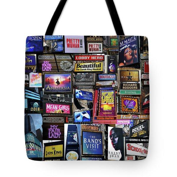 2018 Broadway Spring Collage Tote Bag