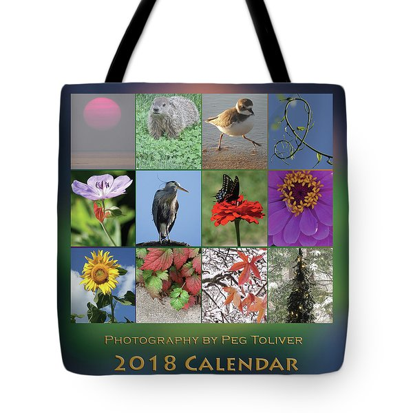 2018 Calendar Thumbprints Tote Bag