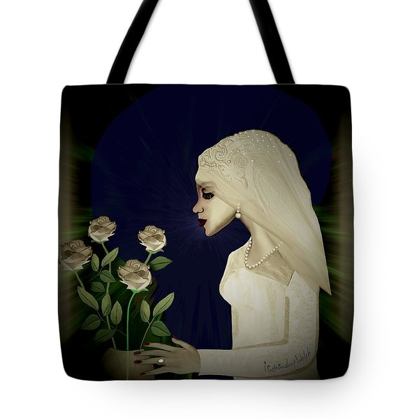 202 - Shy  Bride  2017 Tote Bag by Irmgard Schoendorf Welch