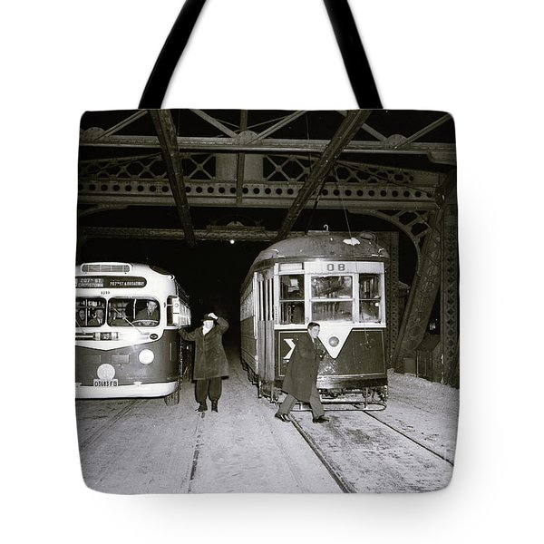 207th Street Crosstown Trolley Tote Bag by Cole Thompson