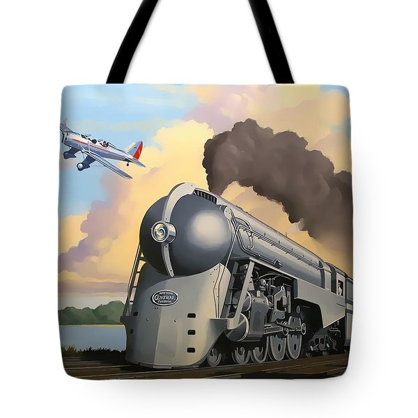 20th Century Limited And Plane Tote Bag by Chuck Staley