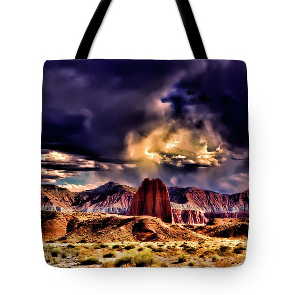 Capitol Reef National Park Catherdal Valley Tote Bag