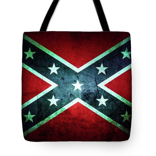 Tote Bag featuring the photograph Confederate Flag by Les Cunliffe