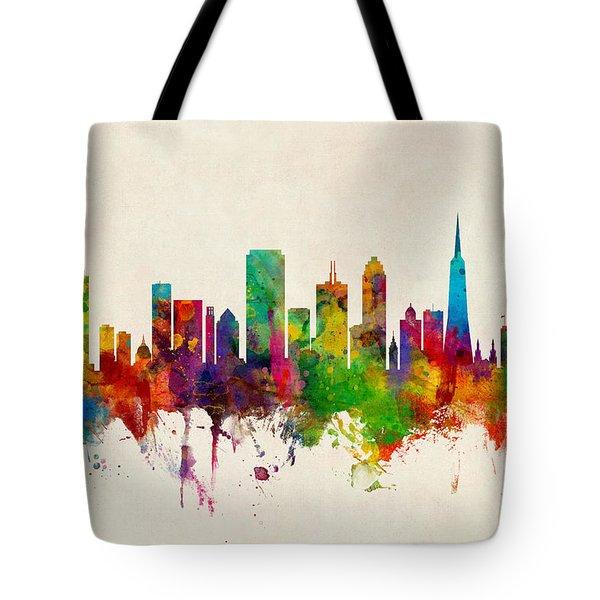 San Francisco City Skyline Tote Bag