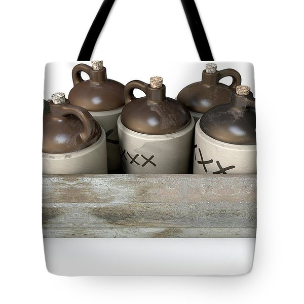 Moonshine In Wooden Crate Tote Bag