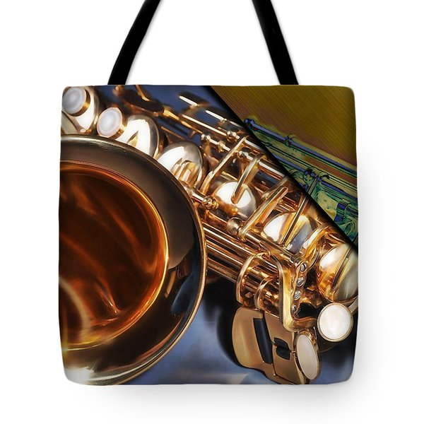 Saxophone Collection Tote Bag