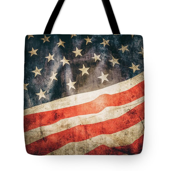 Tote Bag featuring the photograph American Flag by Les Cunliffe