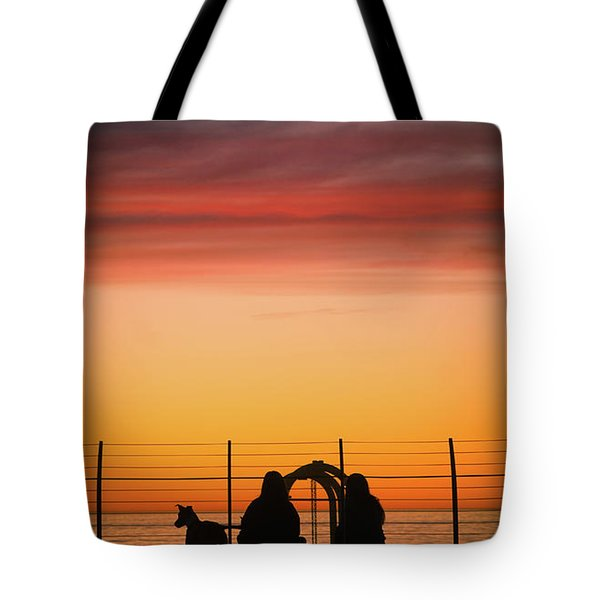 Tote Bag featuring the photograph 22nd St Sunset by Michael Hope