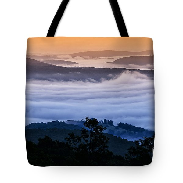 Allegheny Mountain Sunrise Tote Bag by Thomas R Fletcher