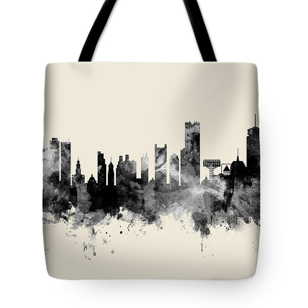 Boston Massachusetts Skyline Tote Bag