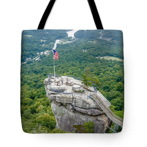 Lake Lure And Chimney Rock Landscapes Tote Bag