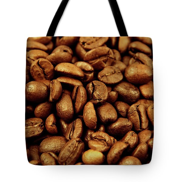 Tote Bag featuring the photograph Coffee Beans by Les Cunliffe