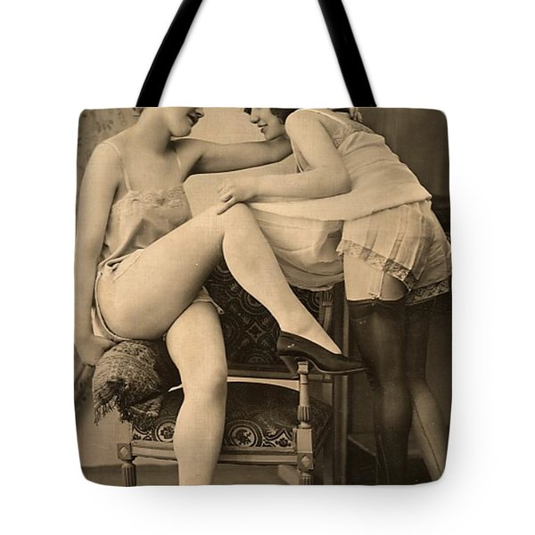 Digital Ode To Vintage Nude By Mb Tote Bag