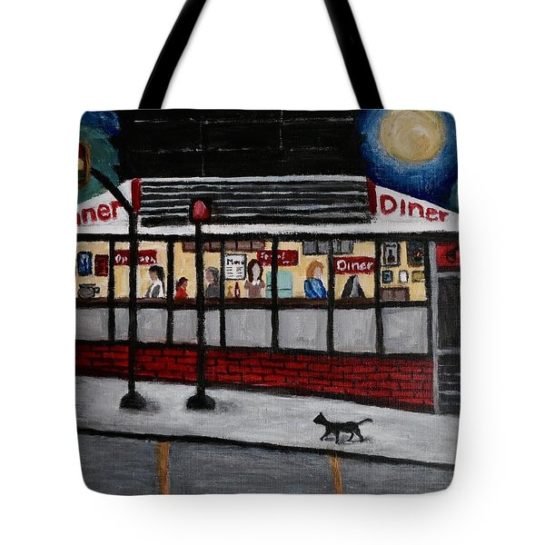 24 Hour Diner Tote Bag by Victoria Lakes