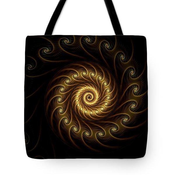 Tote Bag featuring the digital art 24 Karat by Lea Wiggins