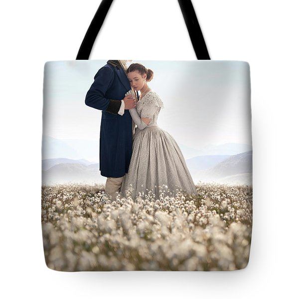 Victorian Couple Tote Bag by Lee Avison