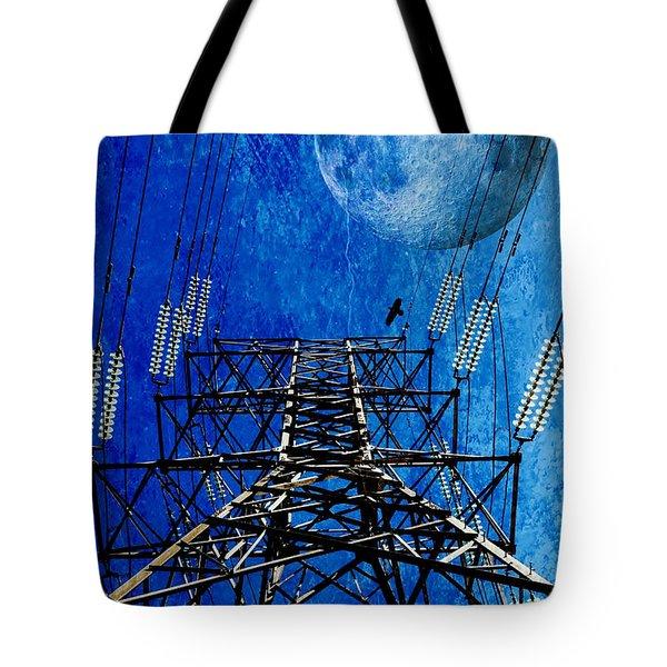 Electric Power Transmission... Tote Bag by Werner Lehmann