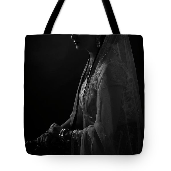 Portrait Of Indian Lady Tote Bag