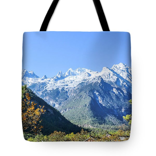 Tote Bag featuring the photograph The Plateau Scenery by Carl Ning