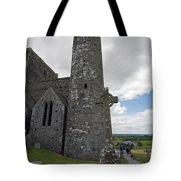 Rock Of Cashel Round Tower Tote Bag
