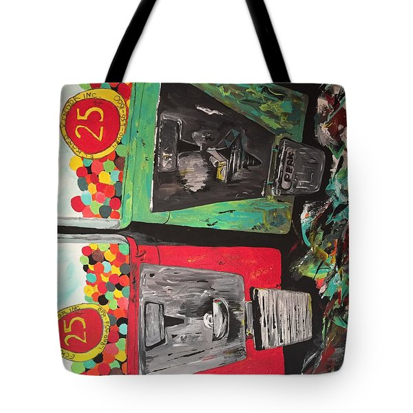 Tote Bag featuring the painting 25cts by Olivier Calas