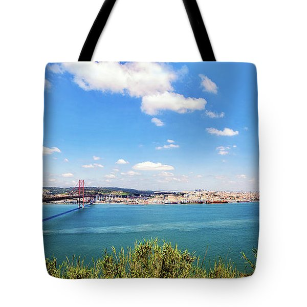 Tote Bag featuring the photograph 25th April Bridge Lisbon by Marion McCristall