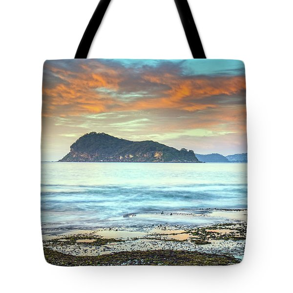 Sunrise Seascape With Clouds Tote Bag