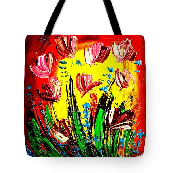 Tulips Tote Bag by Mark Kazav