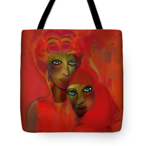 260 - Women In Red  Cothing A... Tote Bag