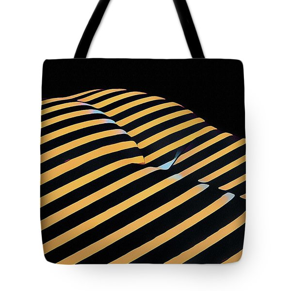 2612s-ak Abstract Rear Butt Bum Thighs Zebra Striped Woman In Composition Style Tote Bag
