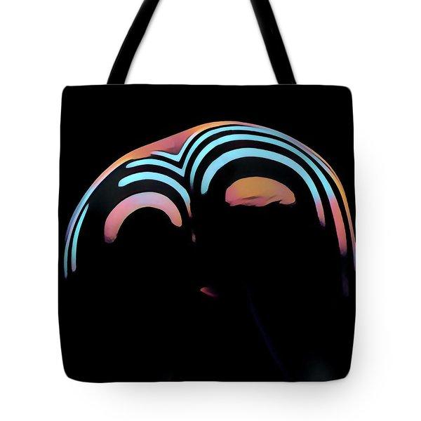 2696s-ak Zebra Striped Woman Rear View In Composition Style Tote Bag