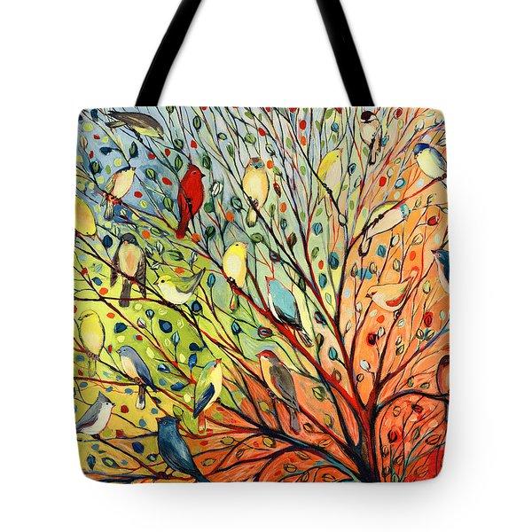 27 Birds Tote Bag