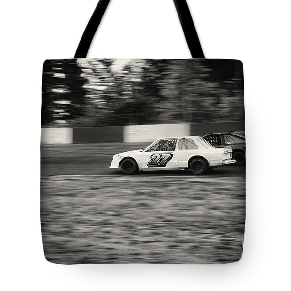 27 On The Speedway Tote Bag