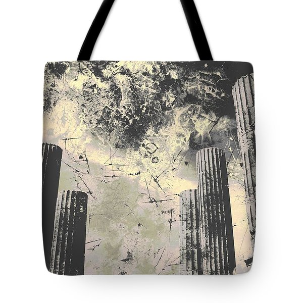 Akropolis Columns Tote Bag
