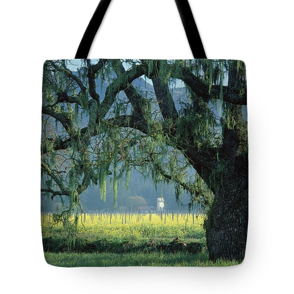 2b6319 Mustard In The Oaks Sonoma Ca Tote Bag