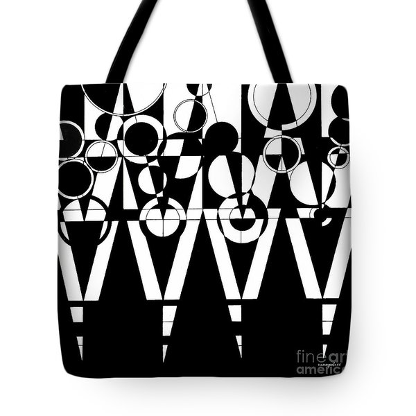 2d Black And White Abstract Tote Bag