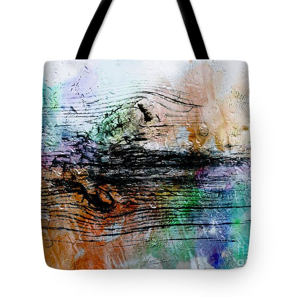 2h Abstract Expressionism Digital Painting Tote Bag