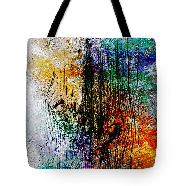 2l Abstract Expressionism Digital Painting Tote Bag