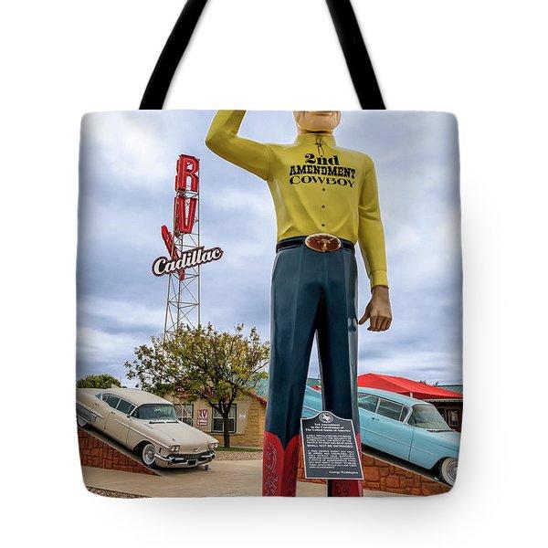 2nd Amendment Cowboy Tote Bag
